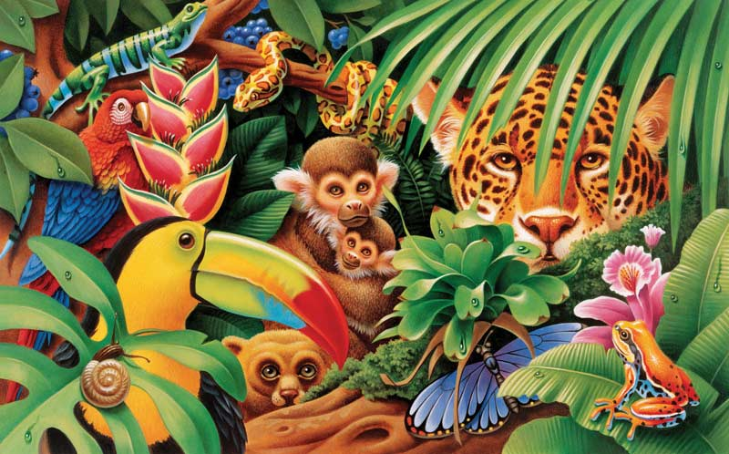 Jungle Animals Jungle Animals Jigsaw Puzzle