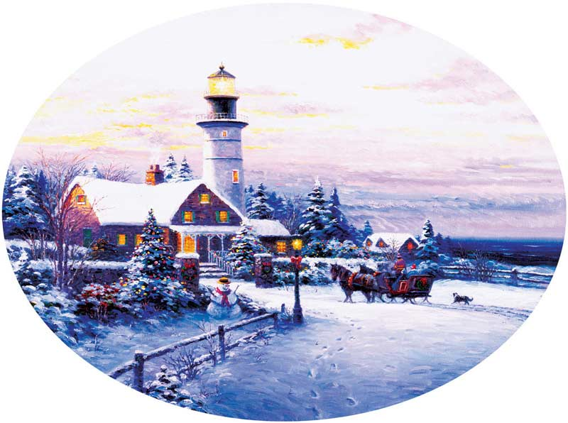 Towards the Light Christmas Jigsaw Puzzle