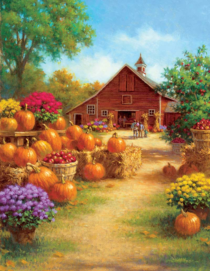 Barn Pumpkins Fall Jigsaw Puzzle