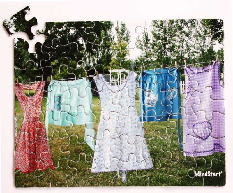 Wash on the Line Everyday Objects Jigsaw Puzzle