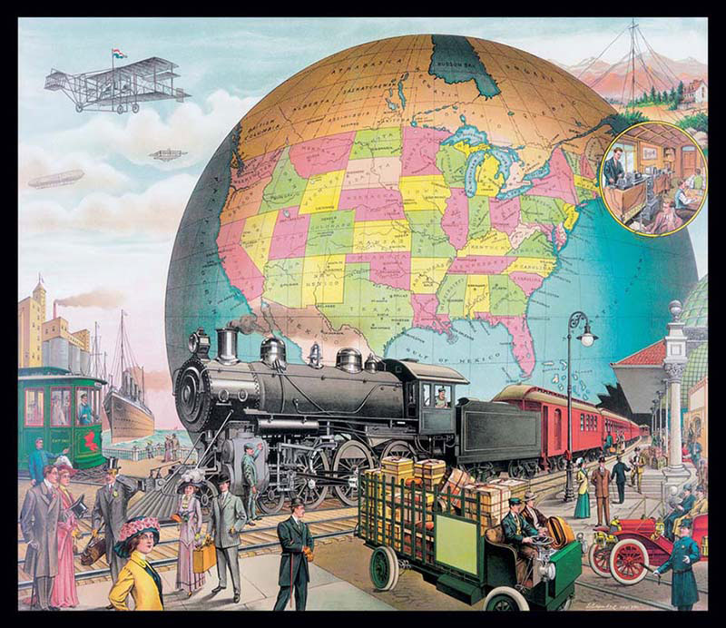 World of Transportation Trains Jigsaw Puzzle