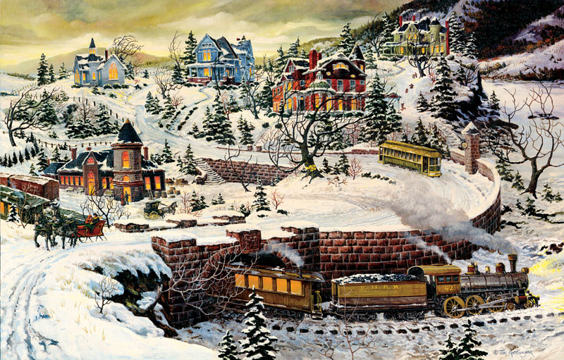Somerset Hills Trains Jigsaw Puzzle