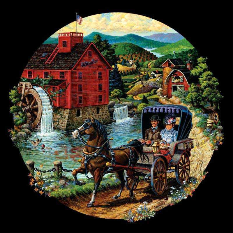 A Road to a Friend Countryside Jigsaw Puzzle