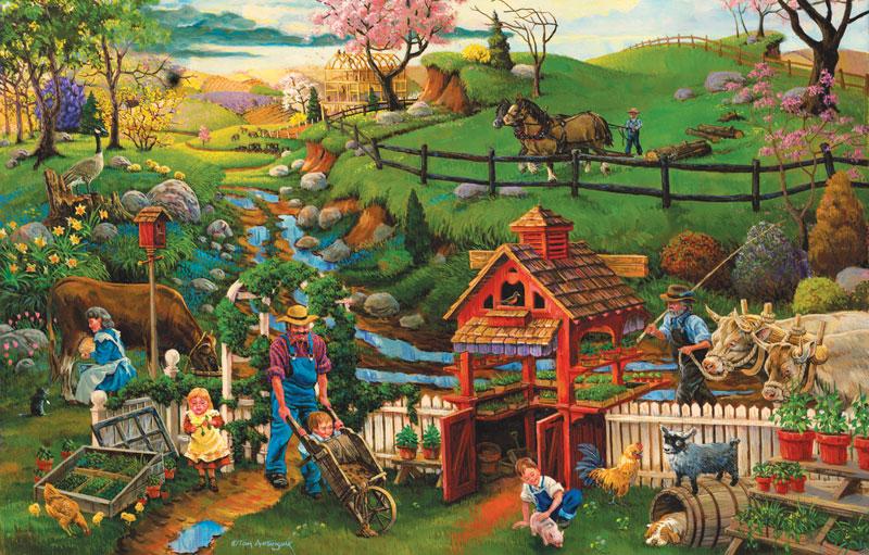 Helping Spring Planting Farm Jigsaw Puzzle