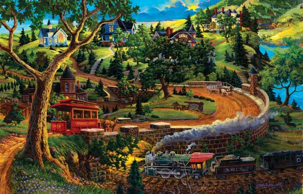 Somerset Spring Trains Jigsaw Puzzle
