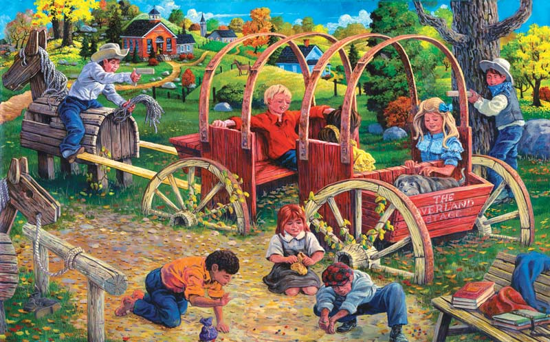 Country Playmates Farm Jigsaw Puzzle