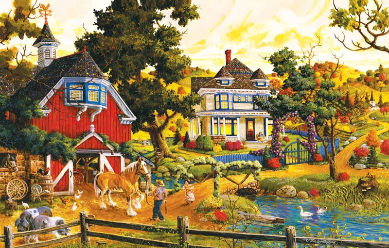 A Friendly Persuasion Countryside Jigsaw Puzzle