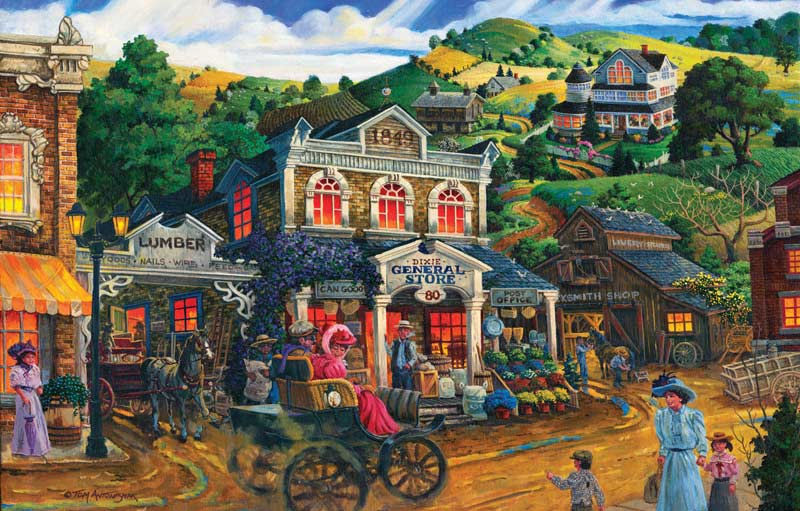 Dixie General Store - Scratch and Dent Americana & Folk Art Jigsaw Puzzle