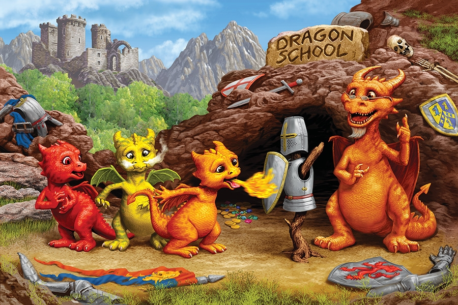 Dragon School - Scratch and Dent Fantasy Jigsaw Puzzle