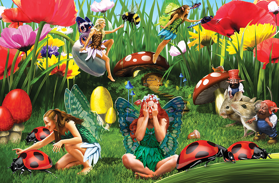 Ladybug Fairies - Scratch and Dent Butterflies and Insects Jigsaw Puzzle