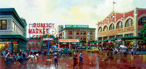 Public Market Street Scene Jigsaw Puzzle