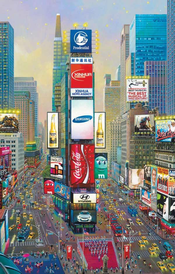 Times Square Twilight New York Jigsaw Puzzle