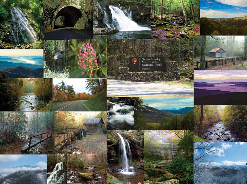 The Great Smoky Mountains Landmarks Jigsaw Puzzle
