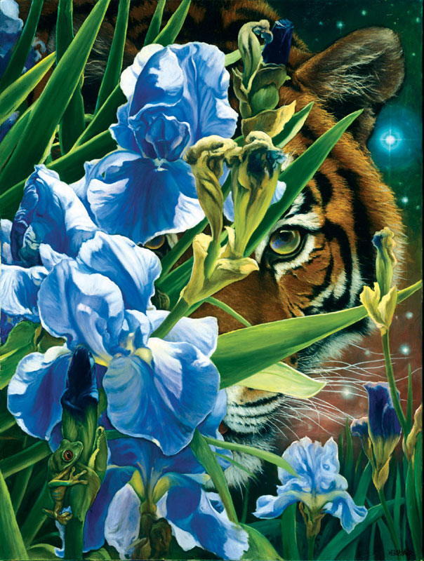 Fantasy Tiger Jungle Animals Jigsaw Puzzle