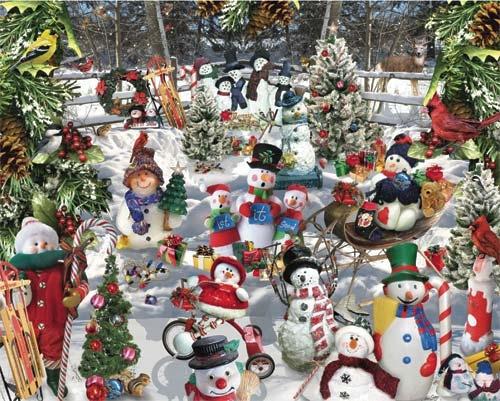 Snowmen Winter Jigsaw Puzzle