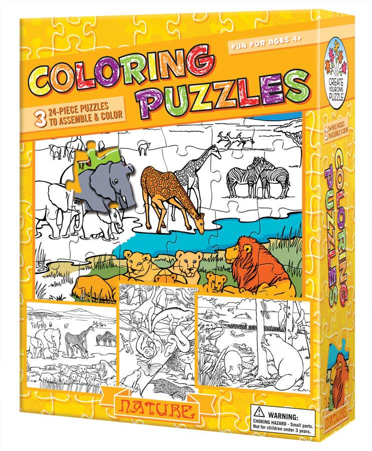 Coloring Puzzles: Nature Nature Arts and Crafts