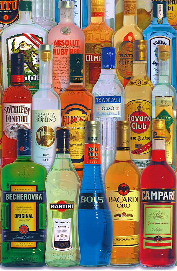 Spirits of the World Cocktails / Spirits Jigsaw Puzzle