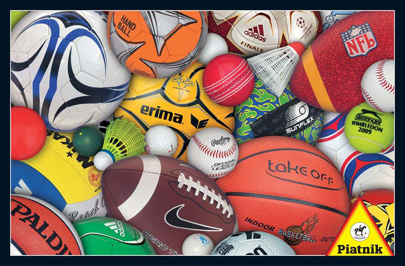 Sports Balls Pattern / Assortment Jigsaw Puzzle