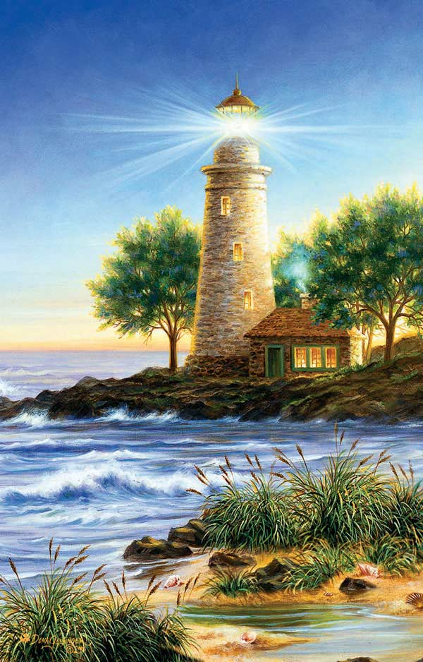 Beacon of Joy Beach Jigsaw Puzzle