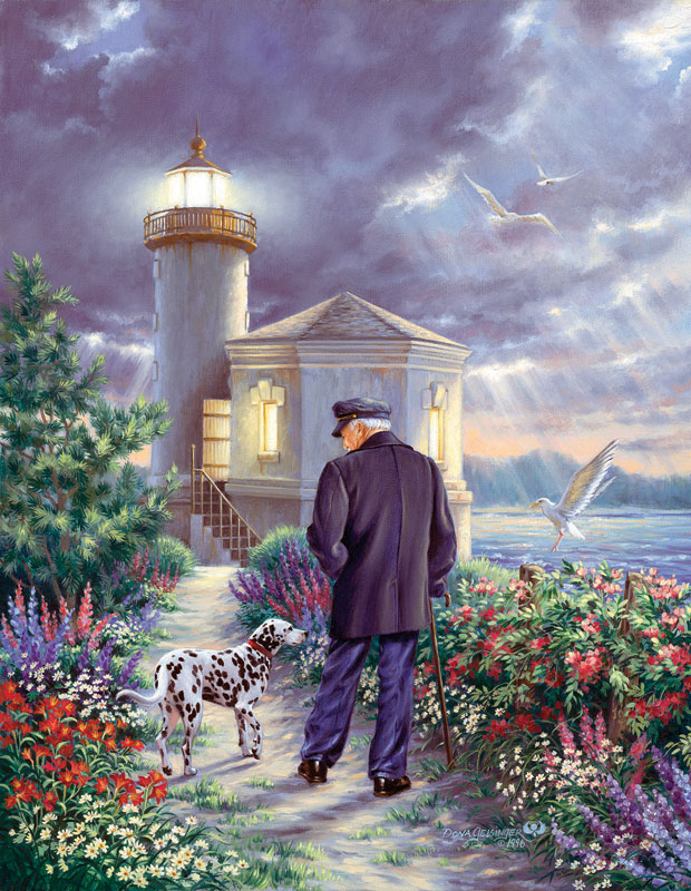 The Lighthouse Keeper Lighthouses Jigsaw Puzzle