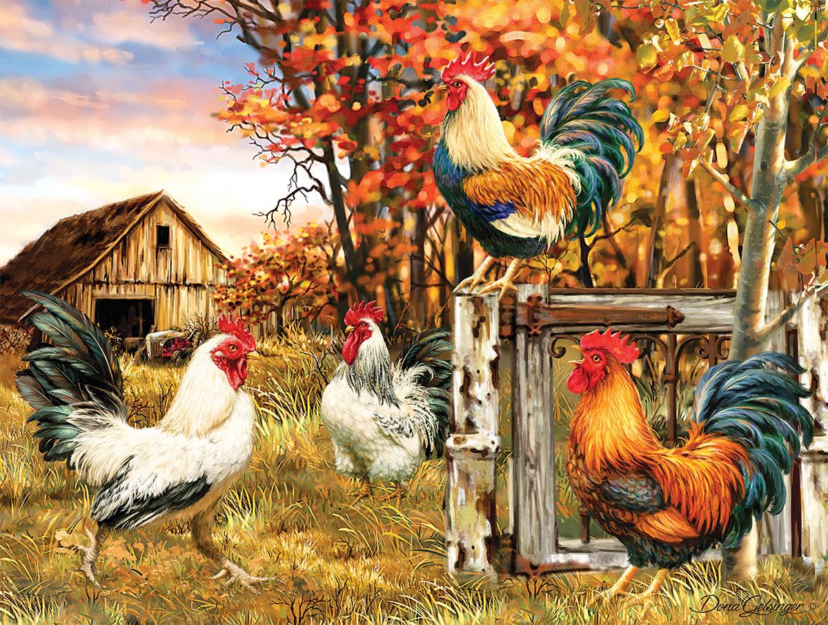 Rooster Farm Farm Jigsaw Puzzle