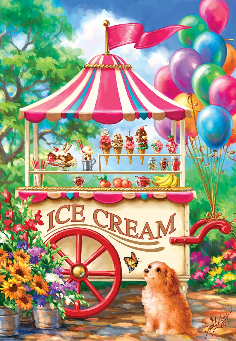 Ice Cream Cart Dogs Jigsaw Puzzle