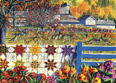 Autumn Farm Fall Jigsaw Puzzle
