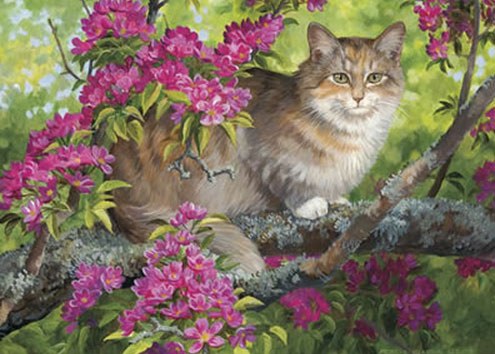 Crab Tree Calico Cats Jigsaw Puzzle