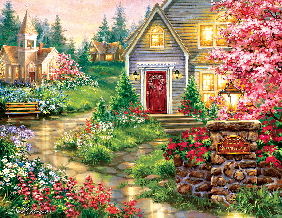 Serenity Lane Cottage / Cabin Jigsaw Puzzle