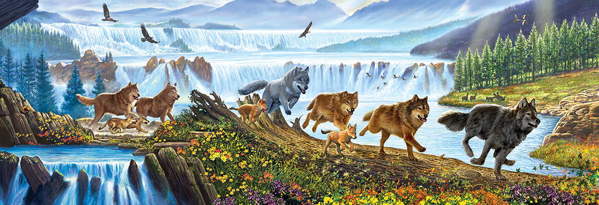 Wolves on the Run Wolves Jigsaw Puzzle