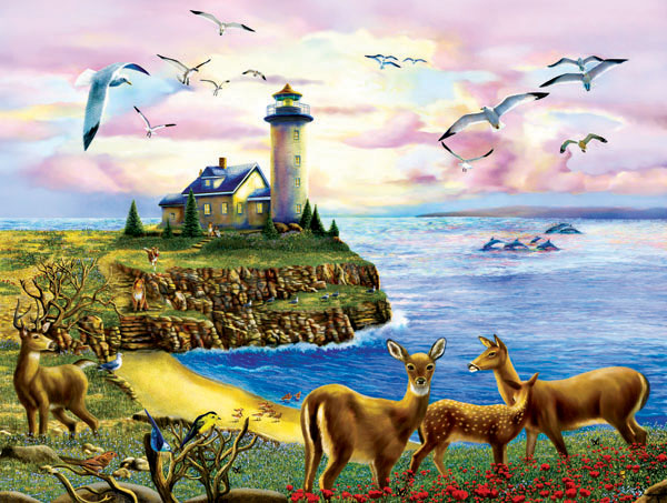 Lighthouse Visitors Lighthouses Jigsaw Puzzle