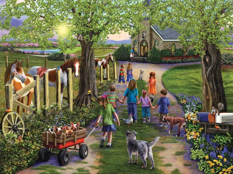 Sunday Stroll Garden Jigsaw Puzzle