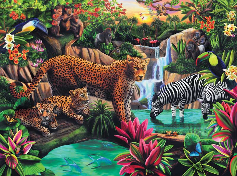 Jungle Elegance Jungle Animals Jigsaw Puzzle