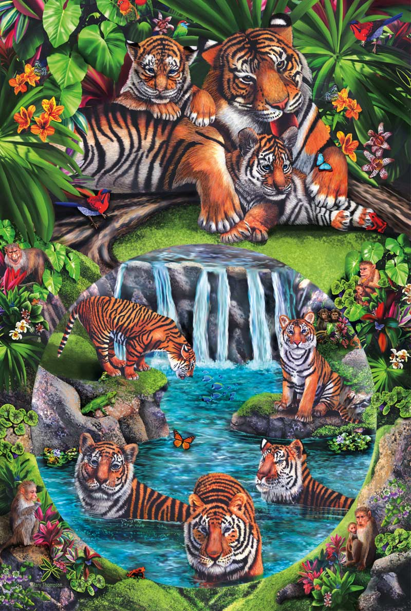 Tiger Play Jungle Animals Family Puzzle