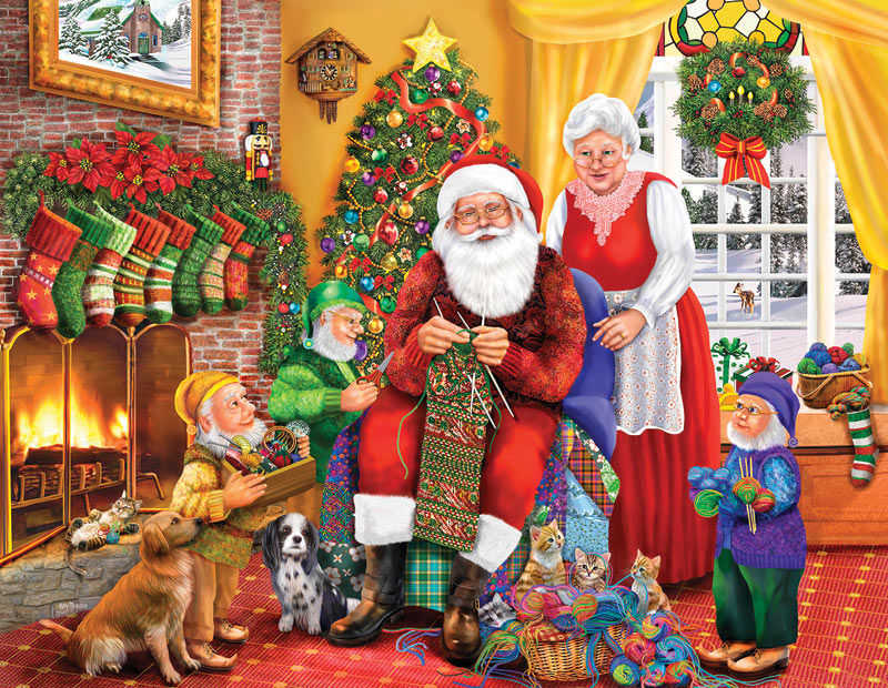 One Last Stocking - Scratch and Dent Santa Jigsaw Puzzle