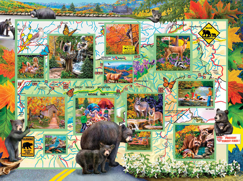 Bears on the Road - Scratch and Dent Wildlife Jigsaw Puzzle