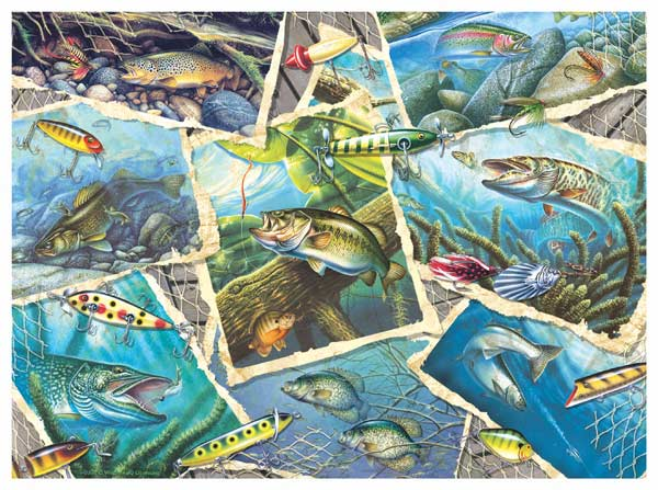 Fishing Frenzy - Scratch and Dent Fishing Jigsaw Puzzle