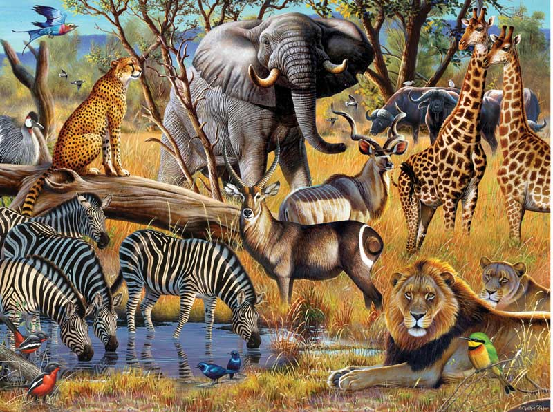 African Sunset Africa Jigsaw Puzzle