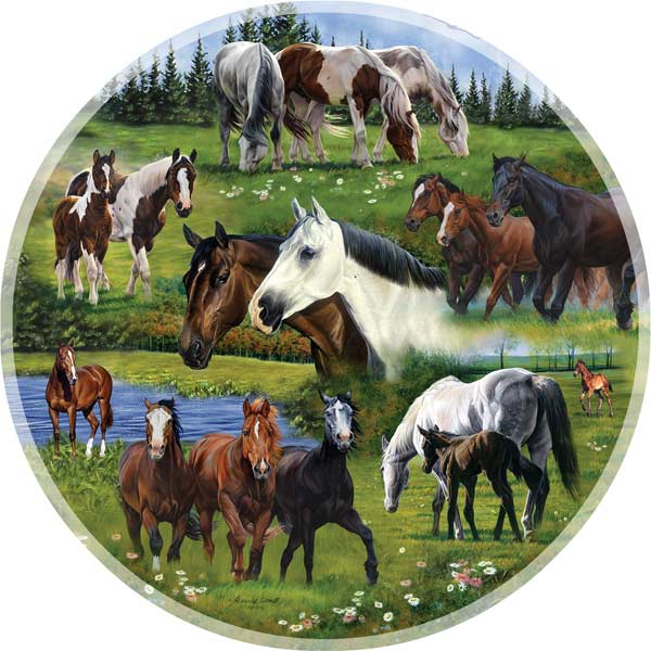 Around the Pasture Countryside Jigsaw Puzzle