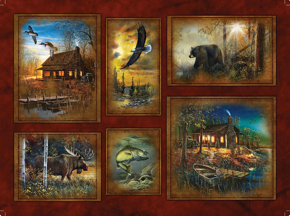 Scenic Lodge Wildlife Jigsaw Puzzle
