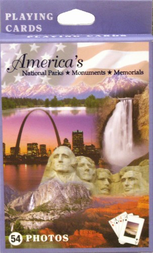 America's National Parks and Memorials, single deck, playing cards Landmarks Playing Cards