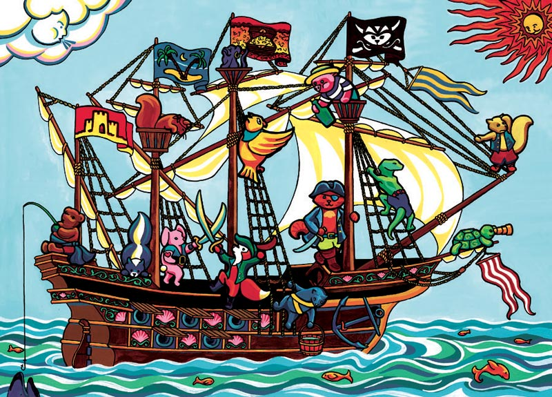 Pirate Ship, (tray) Fantasy Jigsaw Puzzle