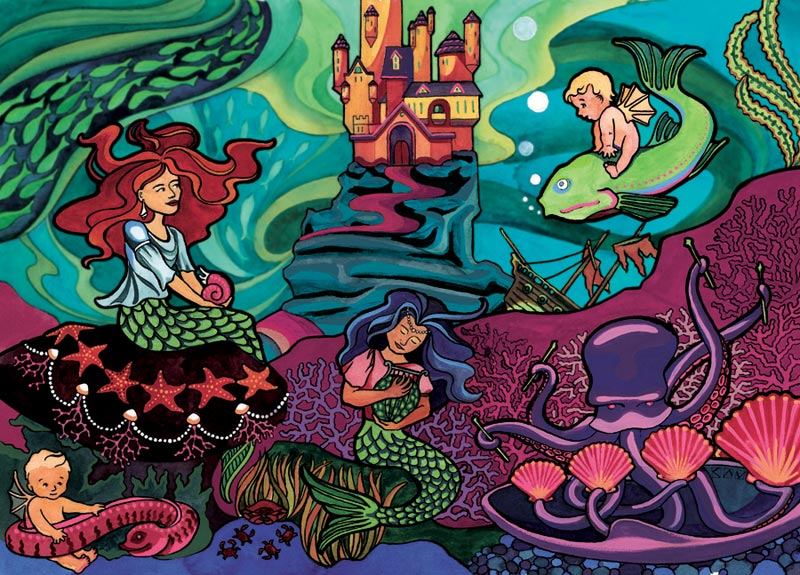 Mermaid Princess, (tray) Marine Life Children's Puzzles
