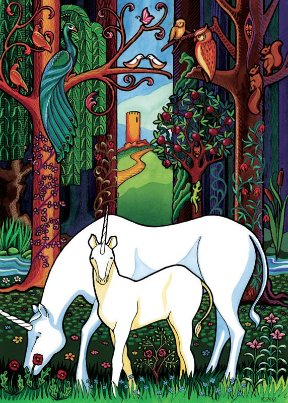 Unicorn Forest, (tray) Fantasy Children's Puzzles