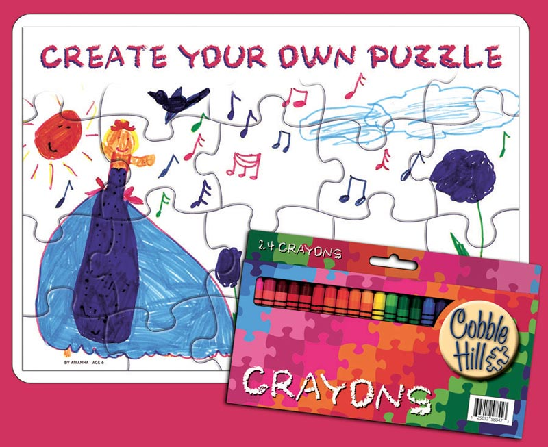 Create Your Own Puzzle - 2 pack w/24 Crayons Educational Arts and Crafts