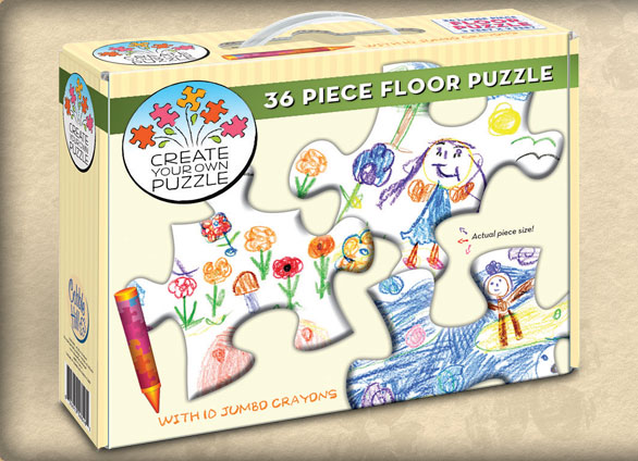 Create Your Own Floor Puzzle Arts and Crafts