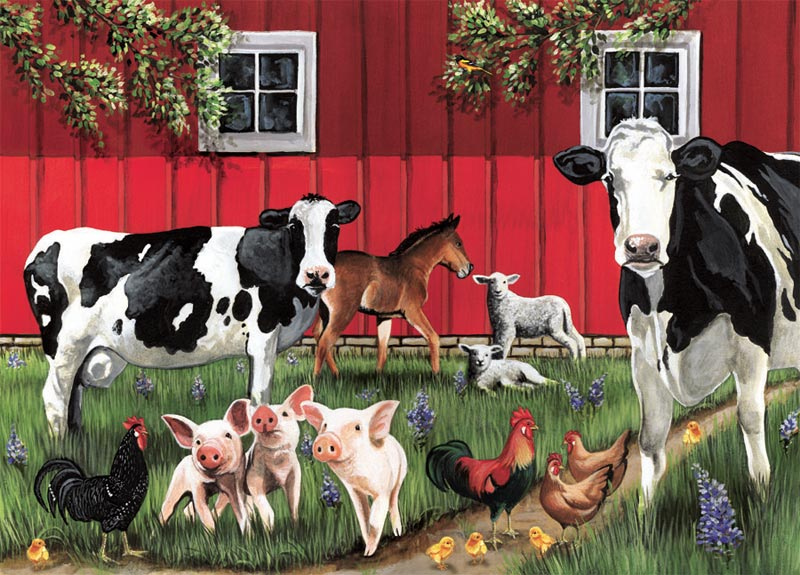 Red Barn Farm Jigsaw Puzzle