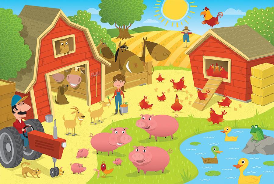 Pig Pen Farm Jigsaw Puzzle