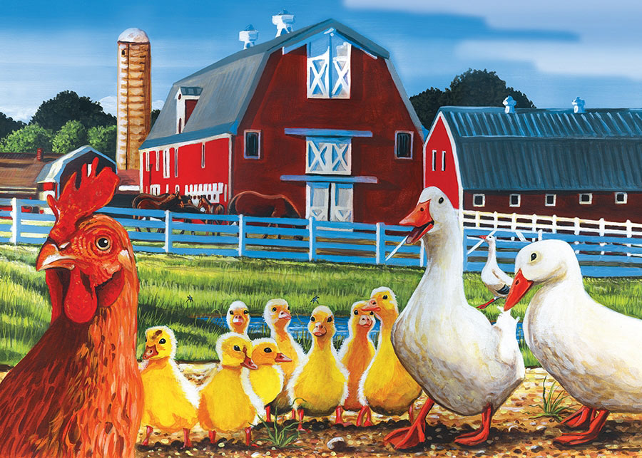 Dwight's Ducks Farm Jigsaw Puzzle