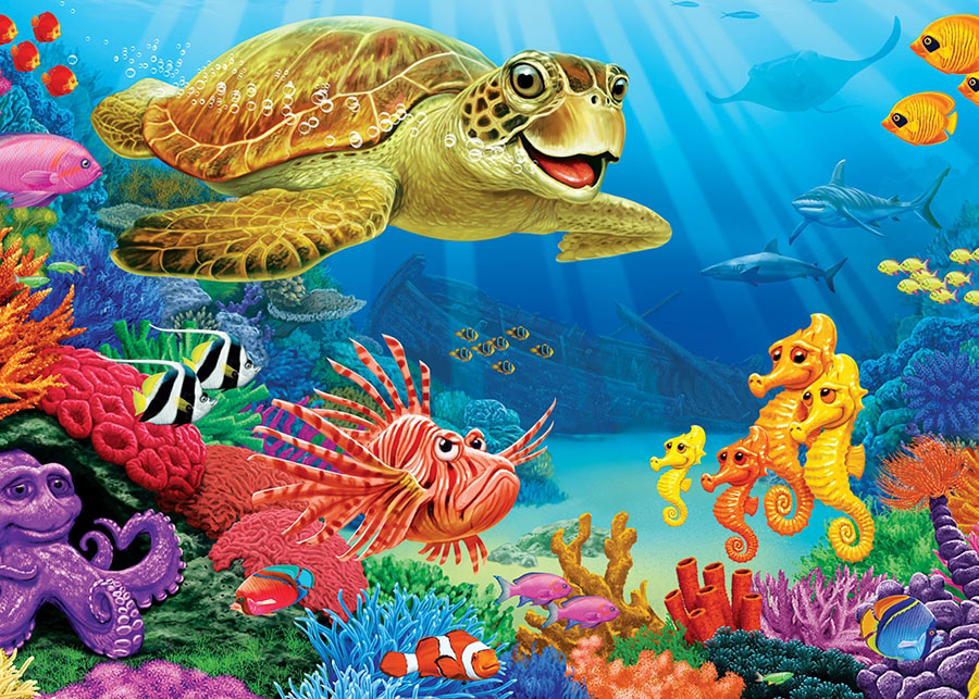 Undersea Turtle Under The Sea Jigsaw Puzzle